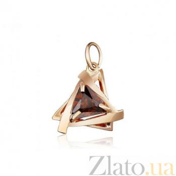 Золотой кулон Монте-Карло с фианитом EDM--П033К