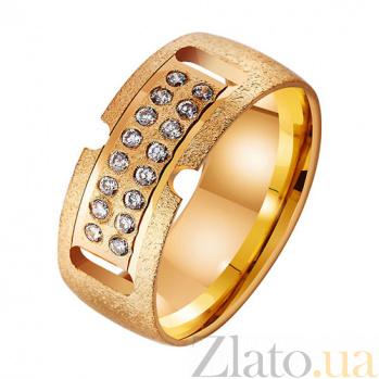 Золотое обручальное кольцо Семейные ценности TRF--432604