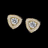 Серьги в лимонном золоте с бриллиантами и микро-паве Dream & Love