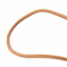 Шелковый коричневый шнурок Внутренний свет с серебряной застежкой