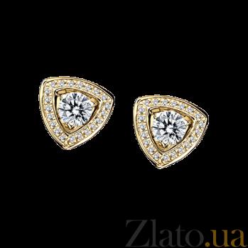 Серьги в лимонном золоте с бриллиантами и микро-паве Dream n Love E-BDL-E-diam-diam