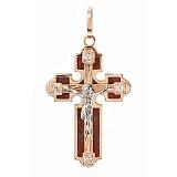 Золотой крест со вставками яшмы и циркония Алтарь