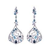 Серебряные серьги Alanda с голубыми, лондон топазами и фианитами