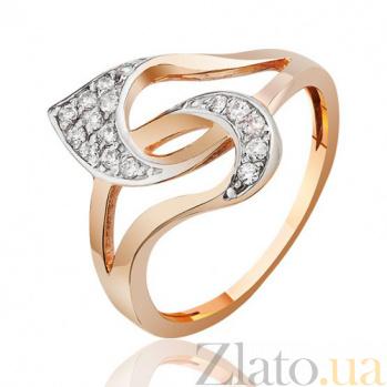Золотое кольцо  с фианитами Изобретательность EDM--КД0452