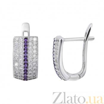 Серебряные серьги Притти AQA--XJE-0218v
