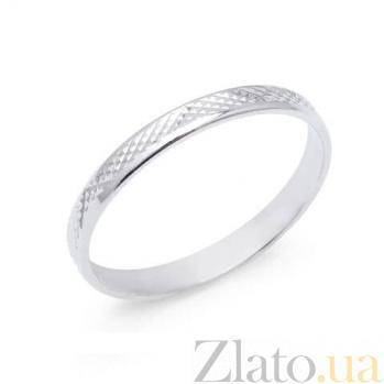 Серебряное обручальное кольцо Нежность AQA--1070/8