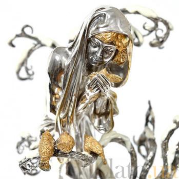 Серебряная композиция Девушка-Зима 1654