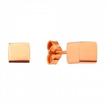 Серьги-пуссеты из красного золота 000127970