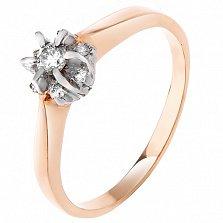 Золотое кольцо Альграна с бриллиантами в родированном касте