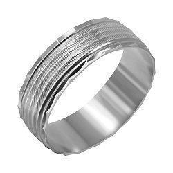 Серебряное обручальное кольцо 000039520