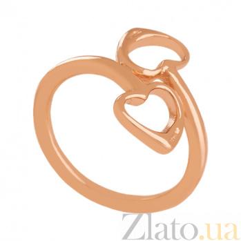 Кольцо из красного золота Влюбленные сердца VLN--312-1675