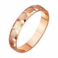 Золотое обручальное кольцо Нежный поцелуй