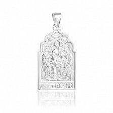 Серебряная ладанка Святая Троица