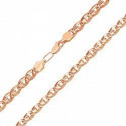 Золотая цепочка Алжир в комбинированном цвете в плетении нонна-бисмарк