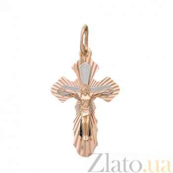 Золотой крест Сияние HUF--11052-А алм