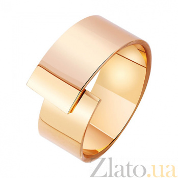 Золотое обручальное кольцо Соединение судеб в красном цвете TRF--411918