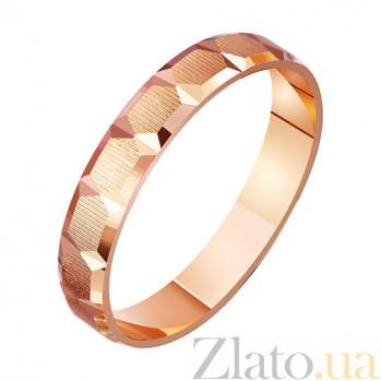 Золотое обручальное кольцо Нежный поцелуй TRF--411136