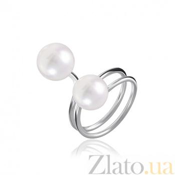 Серебряное кольцо с жемчугом Джиселла 000028046