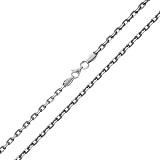 Серебряная цепочка Имидж с родиевым покрытием