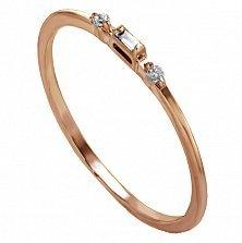 Кольцо в красном золоте Шарлотта с бриллиантами