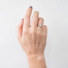 Серебряное кольцо Бонита с кристаллами циркония