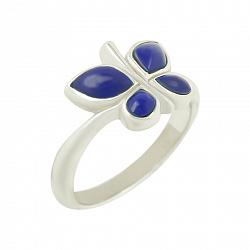 Серебряное кольцо с лазуритом Джейн 000016634