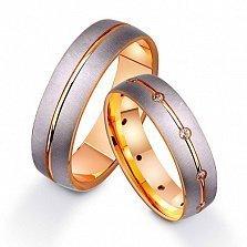 Золотое обручальное кольцо с фианитами Легенда
