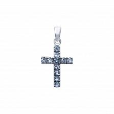 Крест декоративный с топазами Небесная сила
