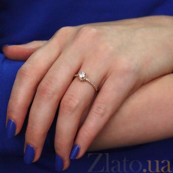 Золотое кольцо с фианитами Истинная любовь 000023194