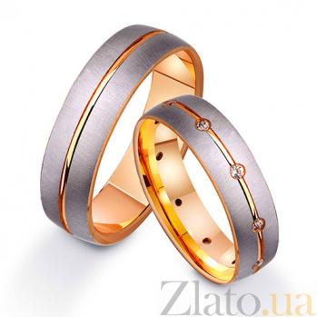 Золотое обручальное кольцо с фианитами Легенда TRF--412260