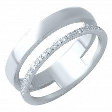 Серебряное кольцо Дезире с фианитами