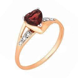 Серебряное кольцо с цирконием 000028207