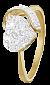 Серебряное кольцо с цирконием With love 000025589