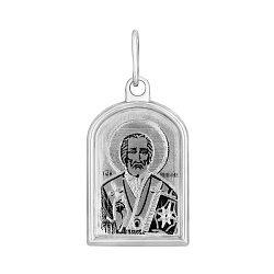 Серебряная ладанка Святой Николай Чудотворец 000124410