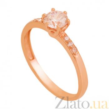 Золотое кольцо с цирконием Изабелла 000029430