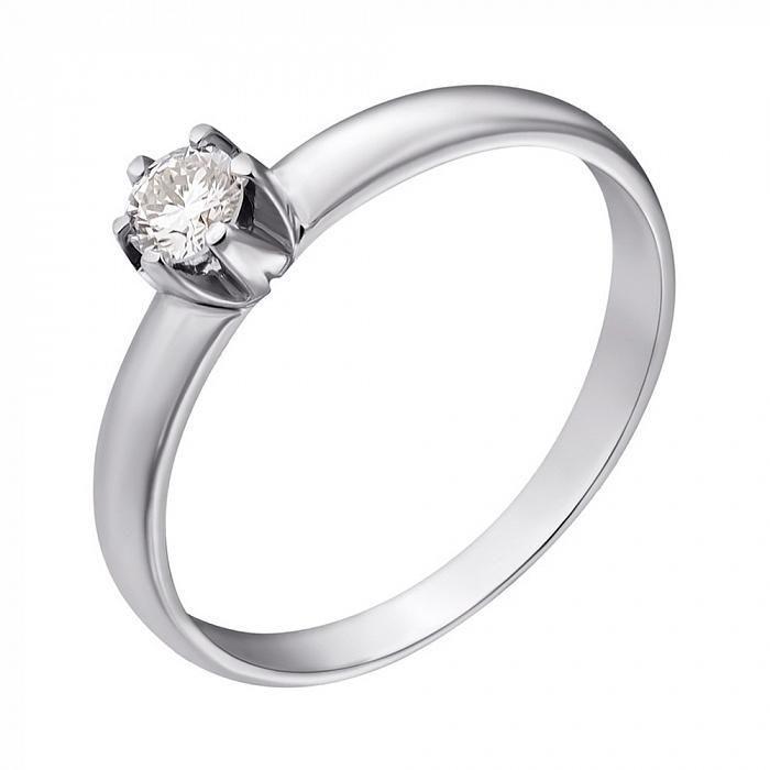 Кольцо в белом золоте с бриллиантом 0,29ct 000070541 000070541