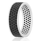 Серебряное кольцо с фианитами Элисо