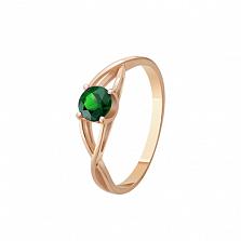 Золотое кольцо Амарантос с изумрудом