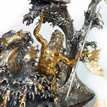 Серебряная композиция Наутилус 491