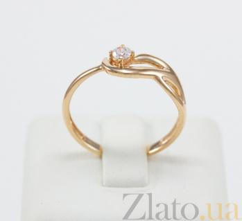 Кольцо из красного золота с фианитом Интрига VLN--212-1774