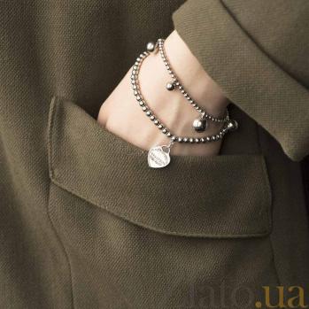Серебряный браслет Романтический вечер с фианитами в стиле Тиффани 000080266