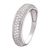 Серебряное кольцо с фианитами Романтика