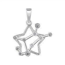 Серебряная подвеска Знак Зодиака Дева с фианитами 000148205