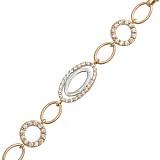 Золотой браслет с цирконием Мари