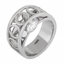 Серебряное кольцо Double stone