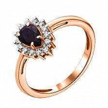 Золотое кольцо с бриллиантами и сапфиром Фрида