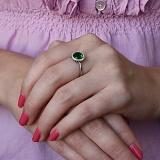 Серебряное кольцо Атлантида с альпинитом и фианитами