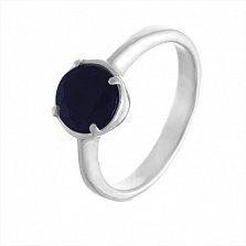 Серебряное кольцо Наоми с сапфиром