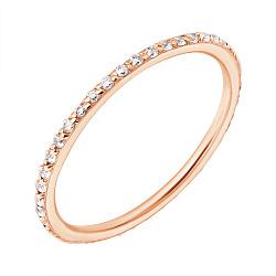 Кольцо из красного золота с фианитами 000004598