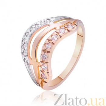 Золотое кольцо с фианитами Воспитание чувств EDM--КД0215